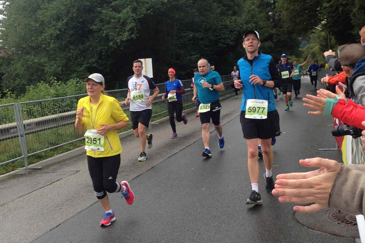 Halbmarathon Tegernsee Zielgerade