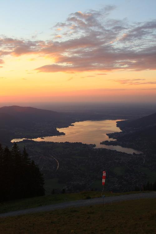 Sonnenuntergang Tegernsee vom Wallberg aus