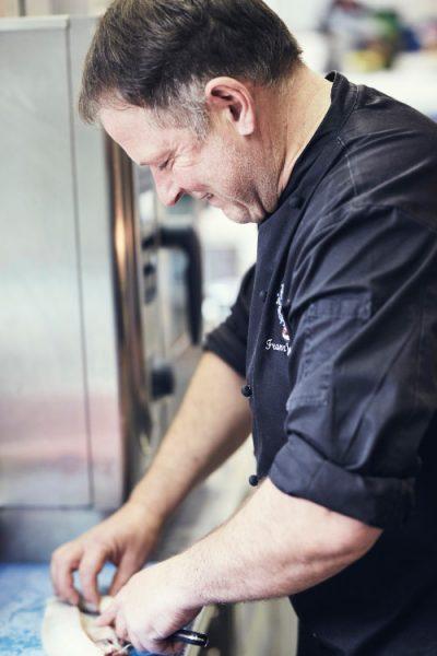Franz Josef Maier in der Küche des Hotel Maier zum Kirschner
