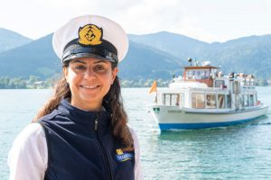 Schiffskapitänin Nadja Boshi Tegernsee