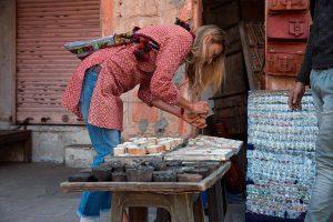 Tamara Comolli in Indien