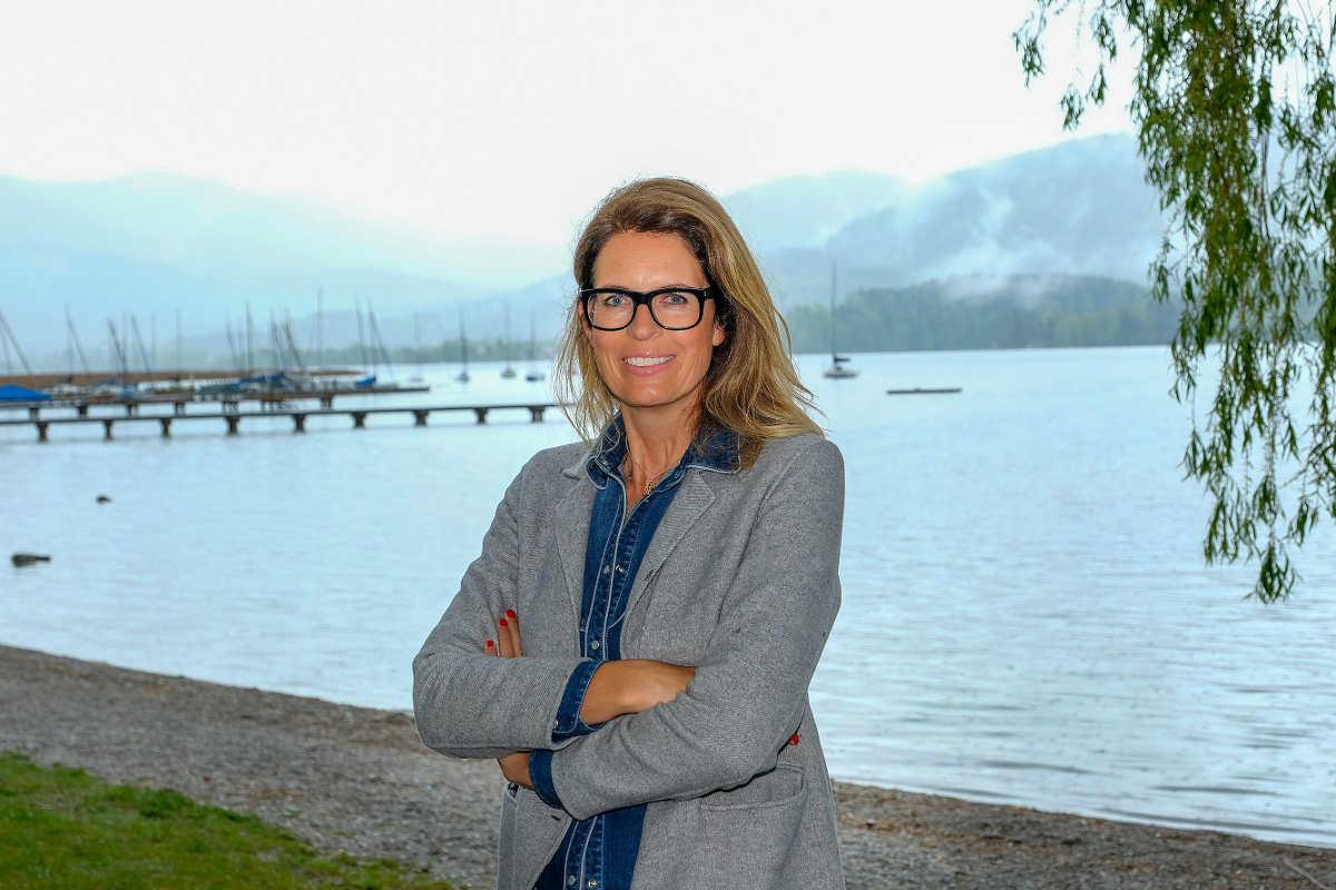 Sonja Scheider am Tegernsee
